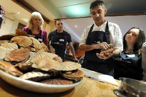 Scallop cookery course at Webbe's at the Fish Cafe, Rye