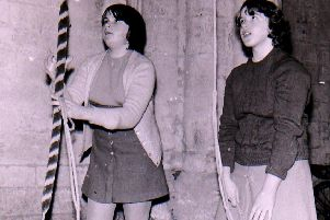Young bell ringers at Ewerby Church uin 1970. EMN-190228-140220001