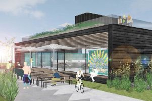An artists' impression of the Big Beach Box in Shoreham
