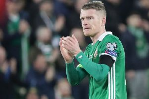 Northern Ireland captain Steven Davis.  Photo by David Maginnis/Pacemaker Press