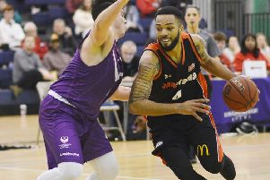 Hemel Storm's Levi Noel had a near triple-double against Manchester Magic at the weekend. (Picture by: Lin Titmuss)