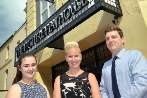 Wetherspoon, Bexhill.''L-R Carly Evans (Shift Leader), Becky Dunkley (Pub Manager) and Michael Selmes (Shift Manager). SUS-170607-104521001
