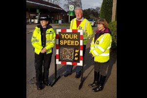 Police were out supporting a road safety campaign in Burwash. Photo courtesy of Rother Police. SUS-190328-163306001
