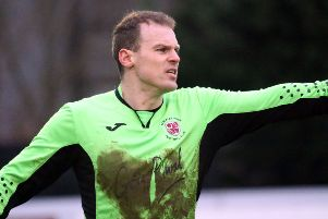 Brackley Town keeper Danny Lewis kept a clean sheet at Southport