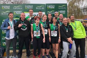 Some of the Hastings Runners contingent at the Paddock Wood Half Marathon