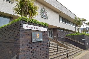 She appeared at Hove Crown Court for sentence yesterday