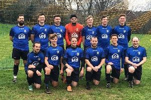 The Sedlescombe Rangers Football Club adult first team which will play in two cup finals later this month