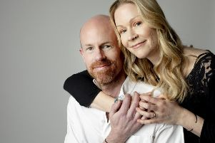 Richard and his wife Bekky. Photo by Bowel Cancer UK/Sophie Mayanne SUS-190415-124040001