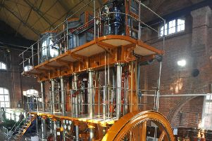 1/2/14- Brede Steam Engine Society open day.   Tangye Water Pump Engine No 2. ENGSUS00120140102172116