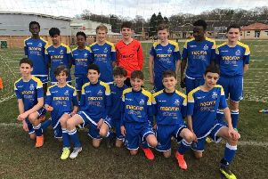 The Claremont School team which is through to the English Schools' FA Boys' Under 13 PlayStation Small Schools' Trophy final