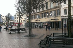 Debenhams in Hastings town centre