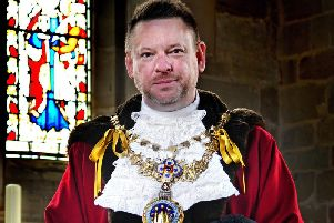 Cllr Richard Eddy's time as mayor will be coming to an end next week. Photo submitted.