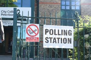 A polling station at City College Peterborough at the recent by-election