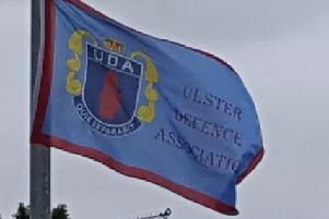 A UDA flag has been erected.