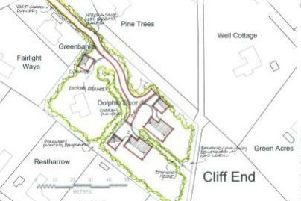Location plan for the proposed new homes