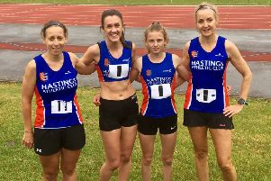 Hastings Athletic Club's women's 4x400m relay team