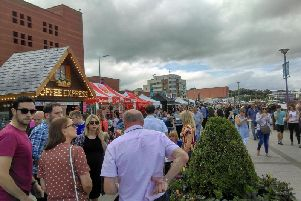 Crowds on the quay for a previous Foyle Maritime Festival
