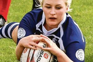Action from the ladies's Barbarians. Photo: David Dales.