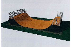 How the new half pipe skate ramp would look