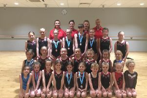 Westgate Gymnastics Club members who performed superbly at Uckfield