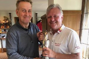 Stapleford Park club champion John Rawlings (right) with Head of Golf Peter Sargent EMN-190714-112930002