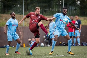 Racing Club suffered a 3-0 loss at Rugby Town on Saturday before going down to a 2-1 defeat at Rugby Borough in midweek. Picture: Mike Baker