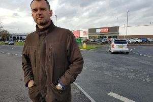 Sinn Fein Colr. Mickey Cooper at the car park.