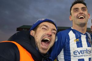 Steven Douglas (left) pictured with Coleraine team-mate Eoin Bradley