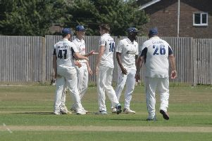 Pagham take a Broadwater wicket / Picture by Kate Shemilt