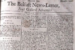 The Belfast News Letter of July 20 1739 (July 31 in the modern calendar)