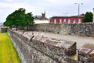 The famous Derry Walls are owned by the Honourable Irish Society and managed by the Department for Communities