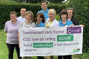Staff at Saxonwood celebrated their 'good' rating