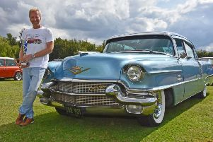 David Radcliffe-Watts of Bleasby Moo won best in show with his 1956 Fleetwood Cadillac 60s Special EMN-191208-234301001