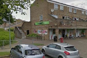 The assault took place at the Co-op in Silk Mill Way