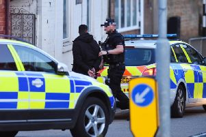 Armed police were called to Rothwell last night. Pictures by Andrew Carpenter.