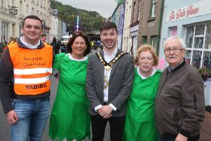 Mayor Bateson with Conor McAfee June Lynn Rose Grant and Cllr Oliver McMullan
