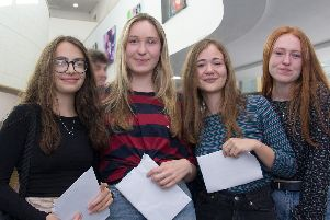 (Left to right) Alice Bowers, Ella Howard, Rosa Guariglia and Ruby Kirk. Photo: Midhurst Rother College