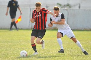 Action from Southwick v Bexhill United