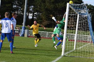 Chances, including this one, went begging for AFC Rushden & Diamonds as they were beaten 1-0 at Enfield Town in the FA Cup last weekend. Picture courtesy of HawkinsImages