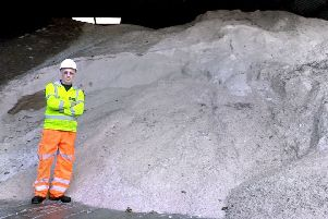 Resident and community groups can apply for up to 680kg of salt; the amount pictured is more than 680kg of salt