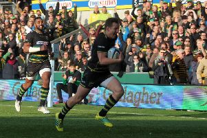 Fraser Dingwall finished off a flowing move when Saints beat Wasps last November