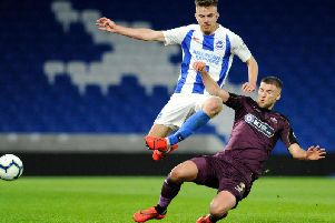 Archie Davies made his first team debut for Brighton and Hove Albion against Aston Villa in the Carabao Cup