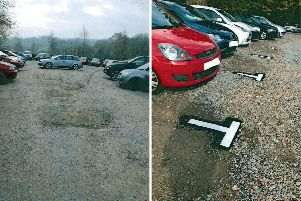 The car park before (left) and after (right)