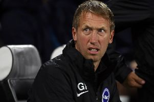 Brighton and Hove manager Graham Potter seeks a positive reaction against Everton after their loss at Aston Villa