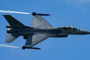 Aviation photographer Matt Silvaire says they were Belgian Air Component Lockheed Martin F-16AMs, which he captured at Airbourne earlier this year