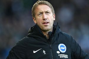 Brighton and Hove Albion head coach Graham Potter rated Aaron Mooy at less than 50-50 for Everton