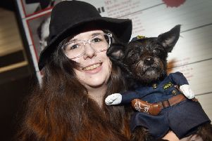 Dress Up Your Dog Day at the True Crime Museum in Hastings''Hanora Kew with Rocket. SUS-201201-162927001