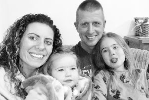Chris Mepham with his family SUS-200122-130651001