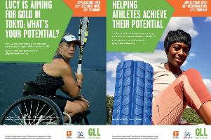 Posters advertising the benefits of the GSF.
