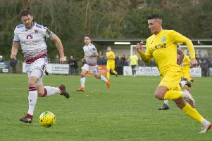 Action from December's meeting between Hastings United v Chichester City. Picture by Neil Holmes